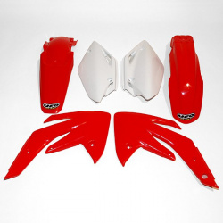 Kit plastique UFO couleur origine rouge/blanc Honda CRF150R/150F