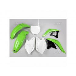 Kit plastique UFO couleur origine vert/blanc Kawasaki KX250F