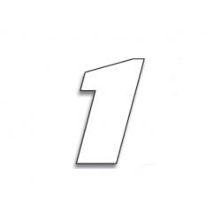 Numéro de course 1 BLACKBIRD 20x25cm blanc