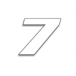 Numéro de course 7 BLACKBIRD 20x25cm blanc