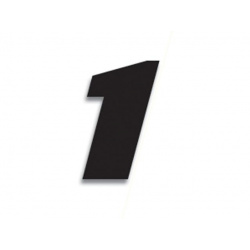Numéro de course 1 BLACKBIRD 20x25cm noir