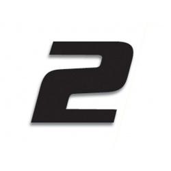 Numéro de course 2 BLACKBIRD 20x25cm noir