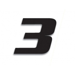 Numéro de course 3 BLACKBIRD 20x25cm noir