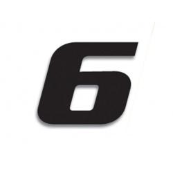Numéro de course 6 BLACKBIRD 20x25cm noir
