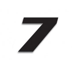 Numéro de course 7 BLACKBIRD 20x25cm noir