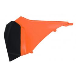 Cache boîte à air gauche RACETECH orange/noir KTM