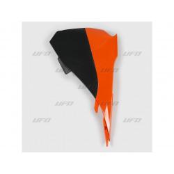 Cache boîte à air UFO orange/noir KTM SX85