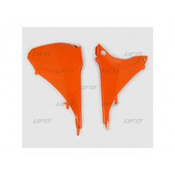 Caches boîte à air UFO orange KTM