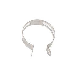 Pièce détachée - Collier de silencieux SCORPION Oval inox avec bande caoutchouc 35mm