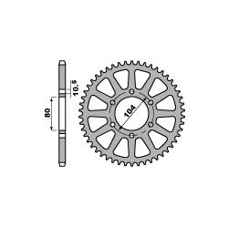 Couronne acier PBR 39 dents chaîne 520 Kawasaki Z1000