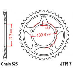 Couronne JT SPROCKETS 44 dents acier pas 525 type 7 BMW S1000RR