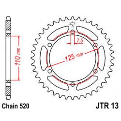 Couronne JT SPROCKETS 41 dents acier pas 520 type 13