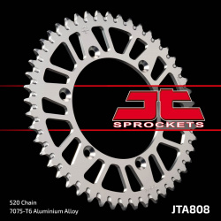 Couronne JT SPROCKETS 48 dents alu ultra-light anti-boue pas 520 type 808 Suzuki