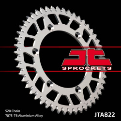 Couronne JT SPROCKETS 52 dents alu ultra-light anti-boue pas 520 type 822