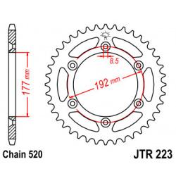 Couronne JT SPROCKETS 53 dents acier pas 520 type 223