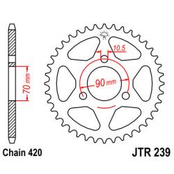 Couronne JT SPROCKETS 45 dents acier pas 420 type 239