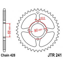 Couronne JT SPROCKETS 53 dents acier pas 428 type 241