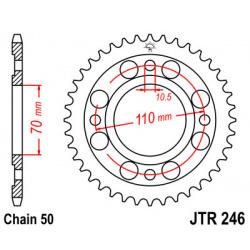 Couronne JT SPROCKETS 41 dents acier pas 530 type 246