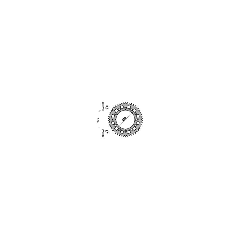 Couronne acier PBR 48 dents chaîne 520 HONDA XR250 R