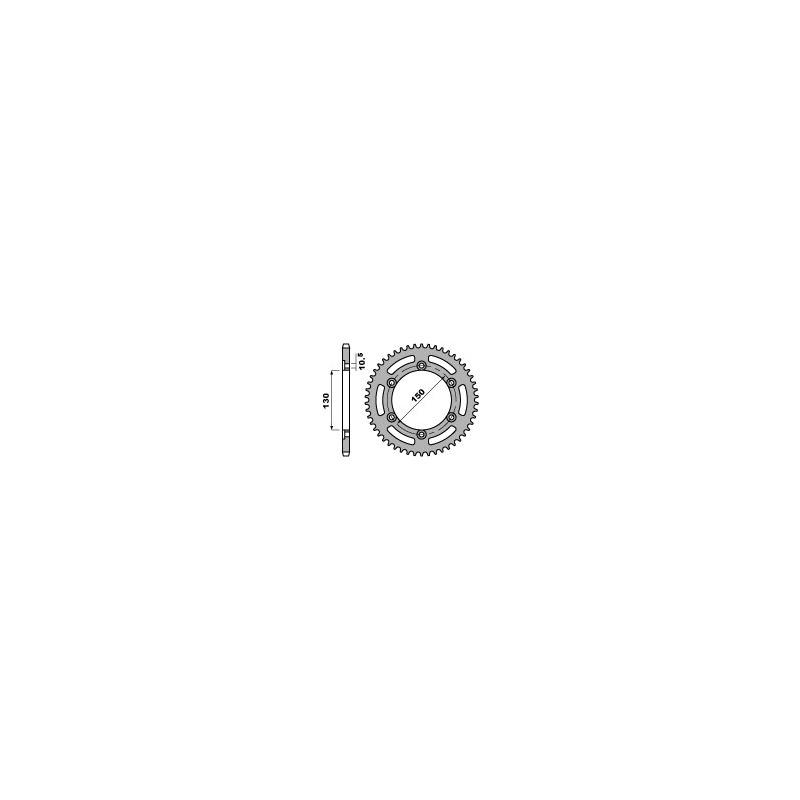 Couronne acier PBR 46 dents chaîne 520 Honda NX650 Dominator