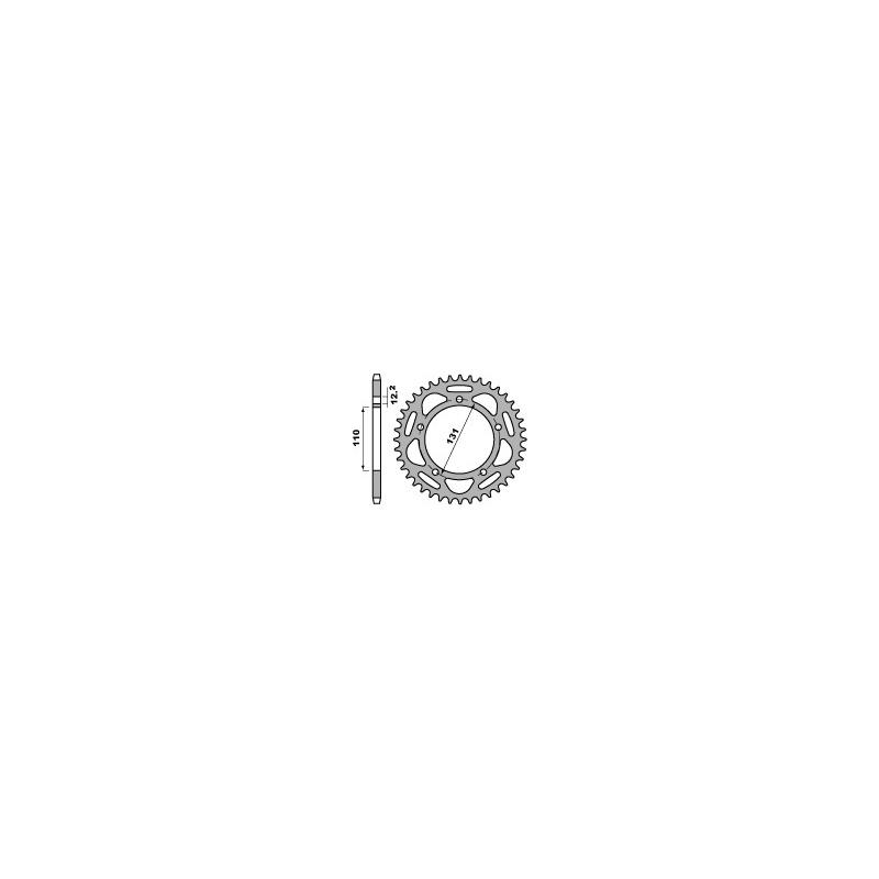 Couronne PBR 42 dents aluminium ultra-light pas 520 type 4586