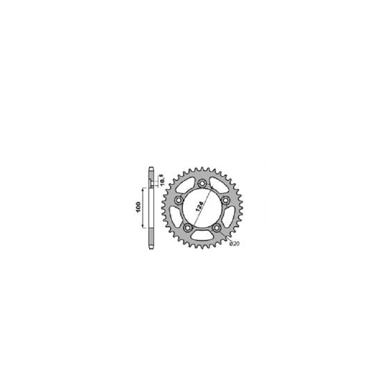 Couronne alu PBR 42 dents chaîne 520 Ducati 899 Panigale