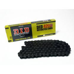 Chaîne de transmission D.I.D 420 D noir/noir 132 maillons