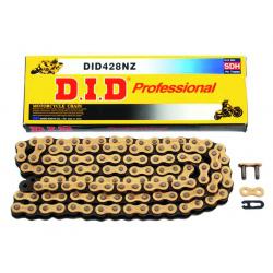 Chaîne de transmission D.I.D 428 NZ or/noir 100 maillons