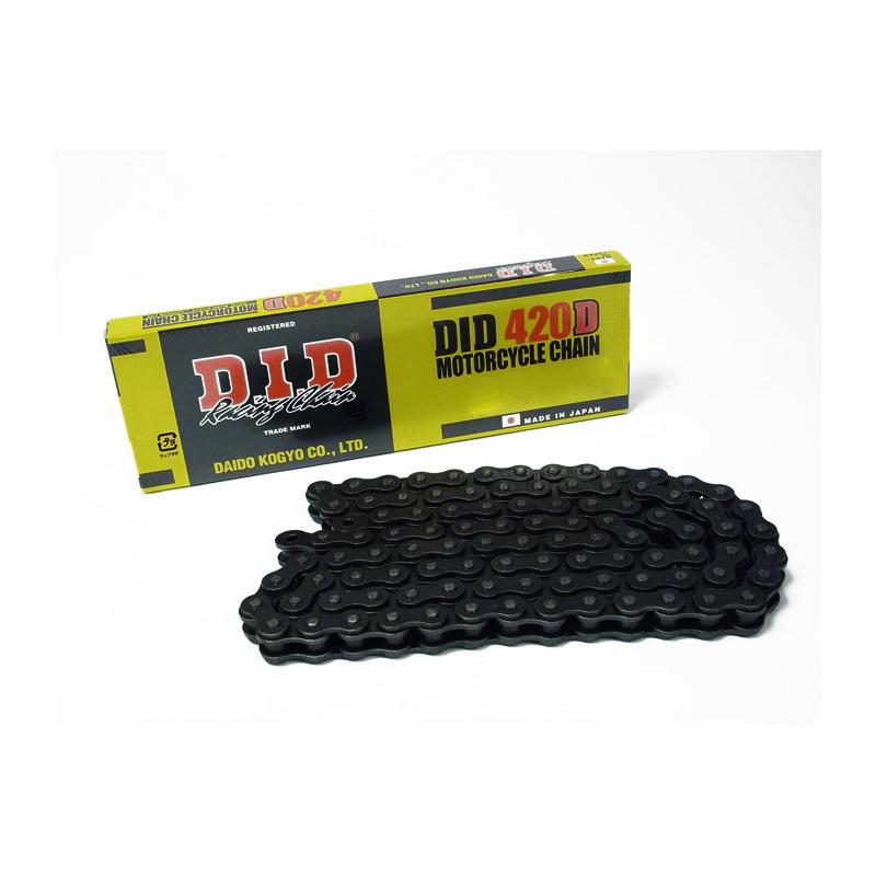 Chaîne de transmission D.I.D 420 D noir/noir 118 maillons