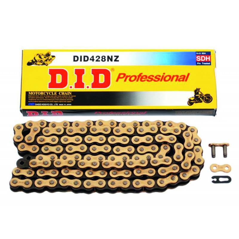 Chaîne de transmission D.I.D 428 NZ or/noir 116 maillons