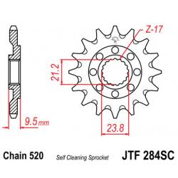 Pignon JT SPROCKETS 14 dents acier anti-boue pas 520 type 284SC Honda CR250R