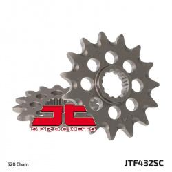 Pignon JT SPROCKETS 14 dents acier anti-boue pas 520 type 432SC Suzuki