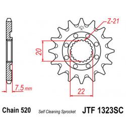 Pignon JT SPROCKETS 14 dents acier anti-boue pas 520 type 1323SC Honda CR125R