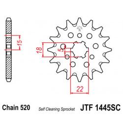 Pignon JT SPROCKETS 12 dents acier anti-boue pas 520 type 1445SC Kawasaki KX125