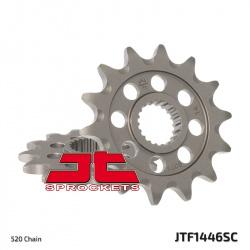 Pignon JT SPROCKETS 13 dents acier anti-boue pas 520 type 1446SC Kawasaki KX250F