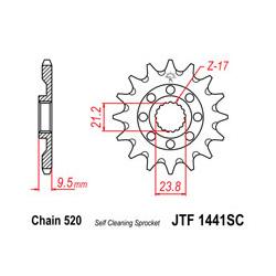 Pignon JT SPROCKETS 14 dents acier anti-boue pas 520 type 1441SC Suzuki RM-Z450