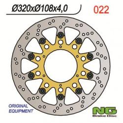 Disque de frein avant gauche NG 022 rond flottant Gas Gas