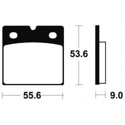 Plaquettes de frein TECNIUM MR6 métal fritté