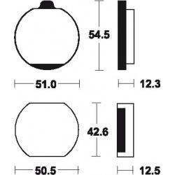 Plaquettes de frein TECNIUM MA10 organique