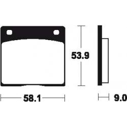 Plaquettes de frein TECNIUM MA12 organique