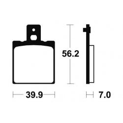 Plaquettes de frein TECNIUM MR19 métal fritté