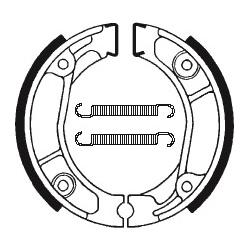 Machoires de frein TECNIUM BA013 organique