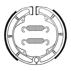 Machoires de frein TECNIUM BA018 organique