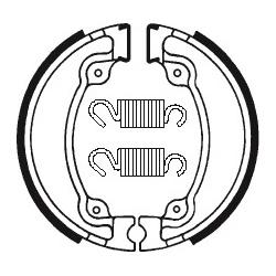 Machoires de frein TECNIUM BA026 organique