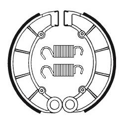 Machoires de frein TECNIUM BA027 organique