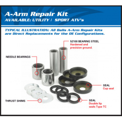 Kit reconditionnement de triangle supérieur ALL BALLS Yamaha YFZ450R