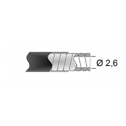 Gaine de frein 26/10 TRANSFIL fil plat blanc rouleau 25m