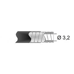 Gaine de frein 32/10 TRANSFIL fil plat noir rouleau 15m