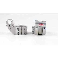 Bracelets LSL Offset High Ø43mm hauteur +37mm/déport +25mm/5° argent