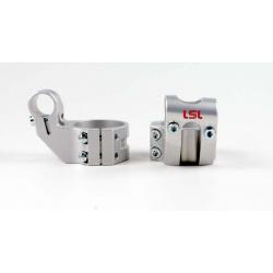 Bracelets LSL Offset High Ø45mm hauteur +37mm/déport +25mm/5° argent